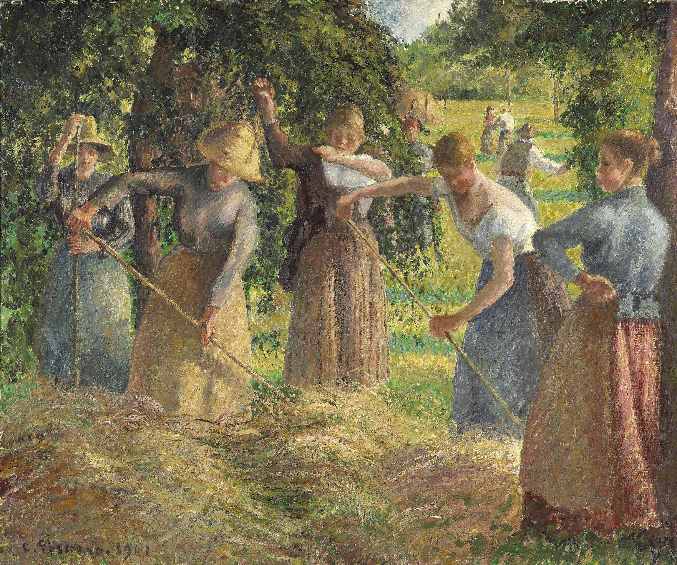 Camille Pissarro,  Hay Harvest at Éragny , 1901, National Gallery of Canada, Ottawa, Ontario.