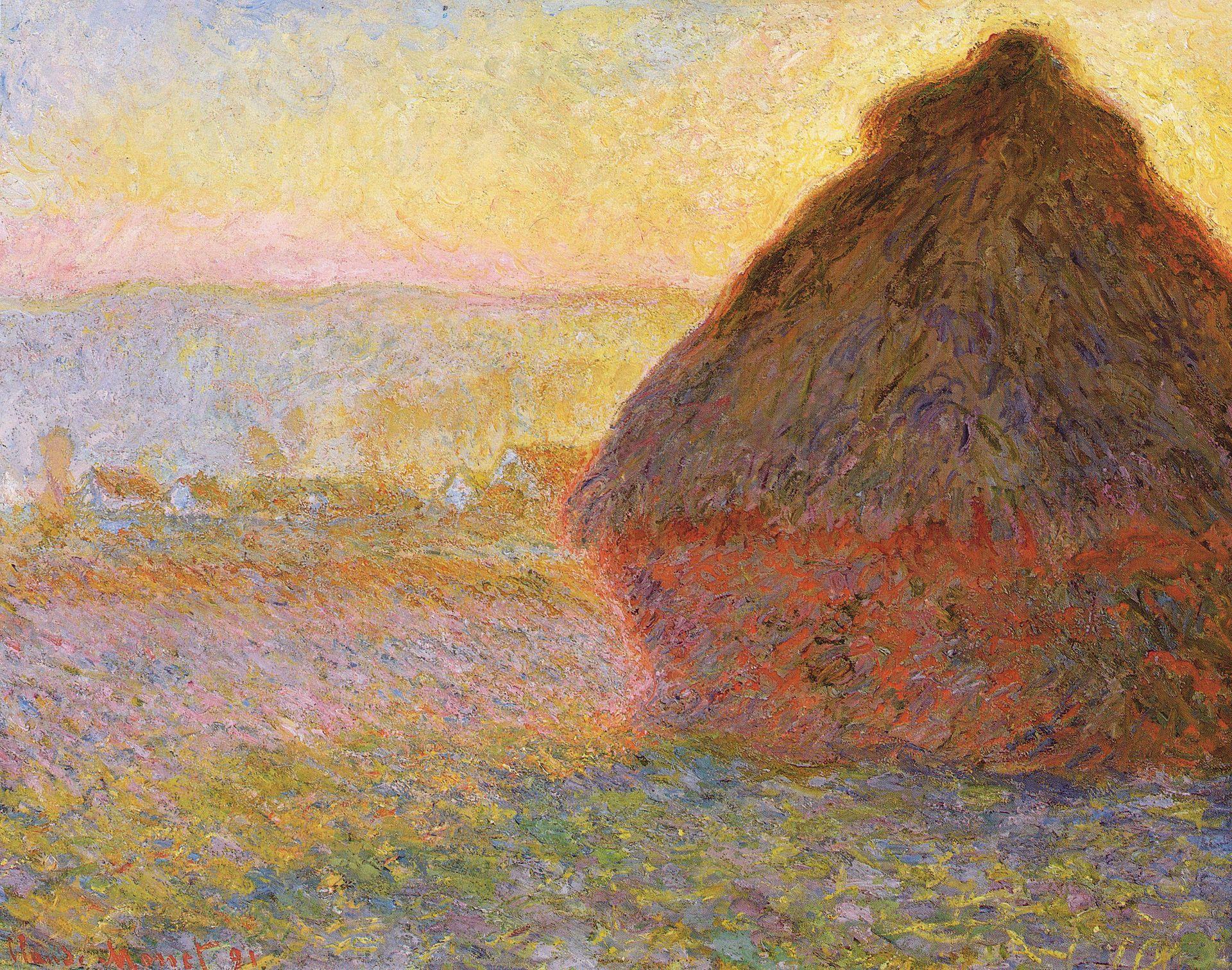 Claude Monet,  Haystacks, (sunset) , 1890–1891, Museum of Fine Arts, Boston.