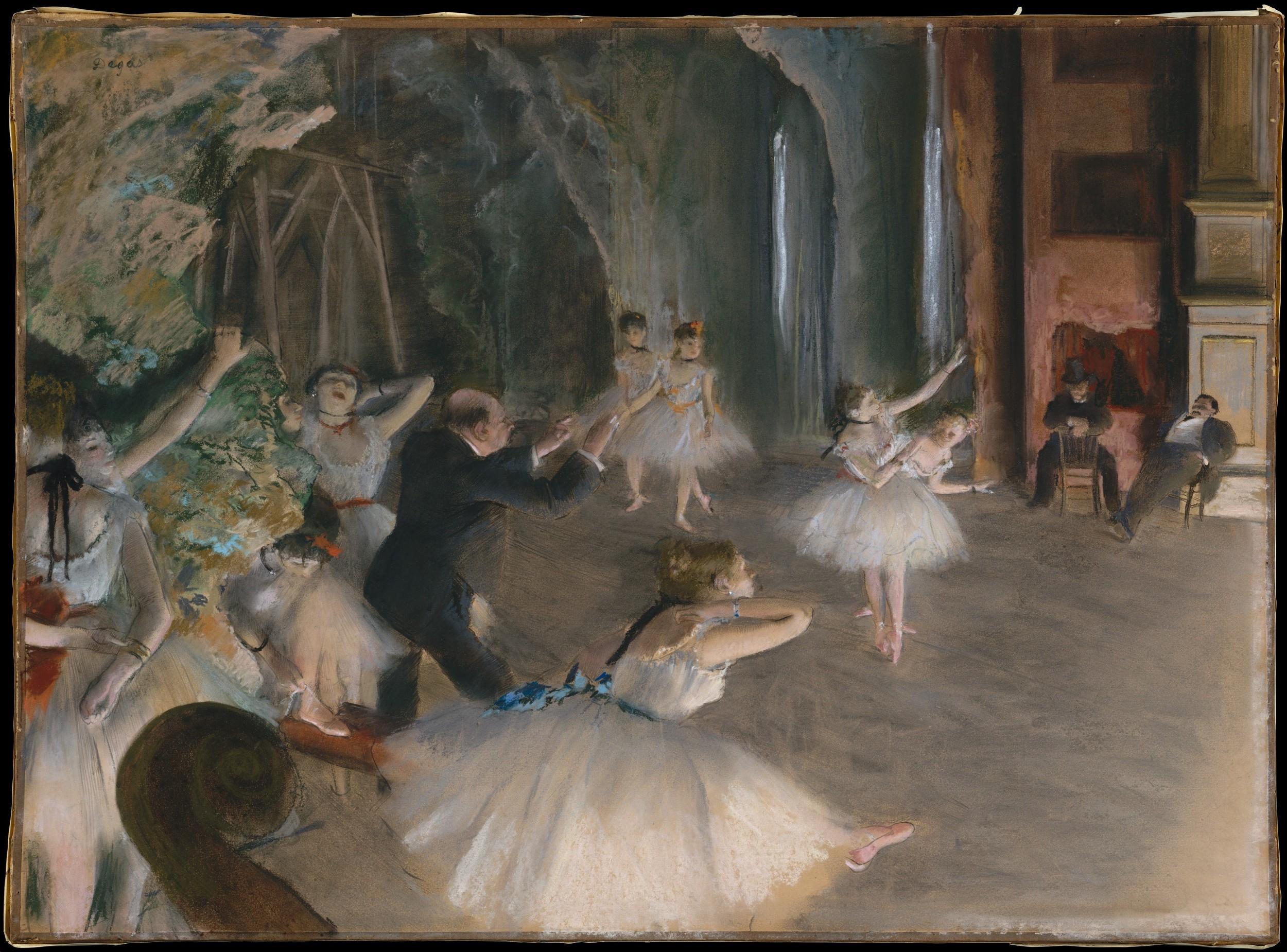 Edgar Degas,  Stage Rehearsal , 1878–1879, The Metropolitan Museum of Art, New York.