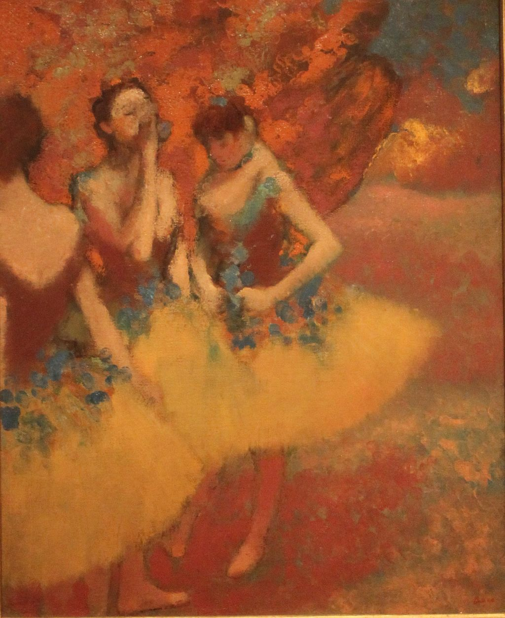 Edgar Degas,  Three Dancers in Yellow Skirts , c. 1891, The Detroit Institute of Arts.