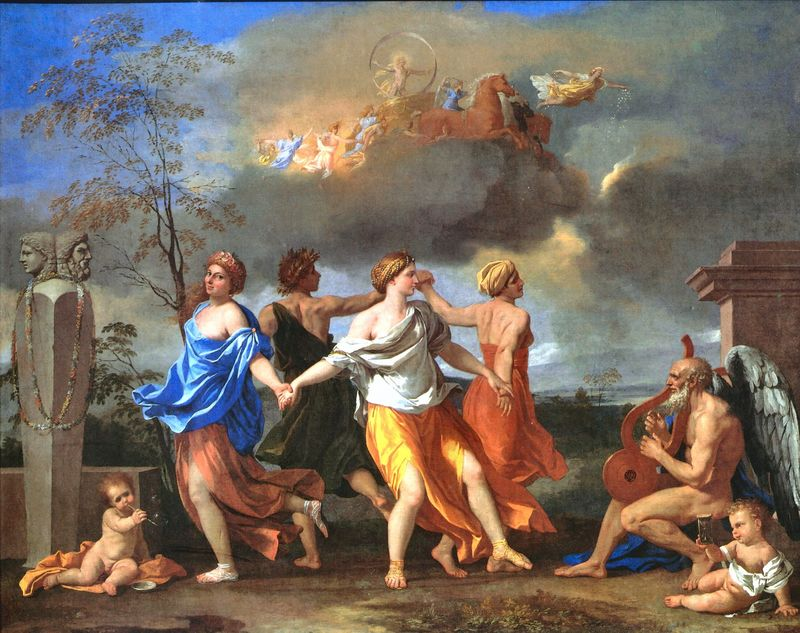 Nicolas Poussin,  A Dance to the Music of Time , 1640, The Wallace Collection.