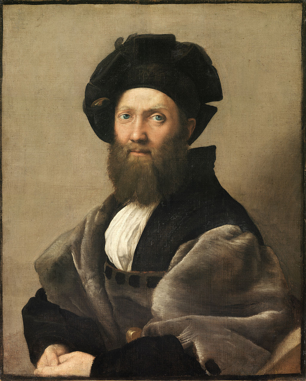 Raphael,  Portrait of Baldassare Castiglione , c. 1515. Louvre, Paris.