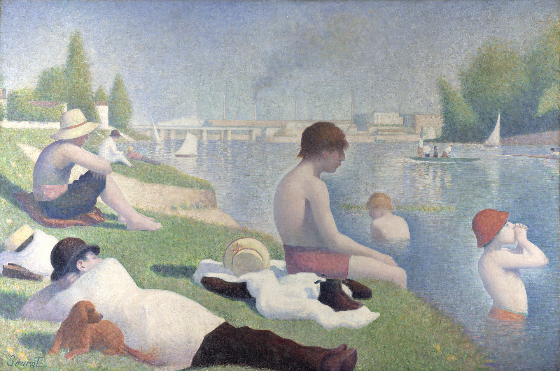 Georges Seurat,  Bathers at Asnières , 1884, National Gallery, London.