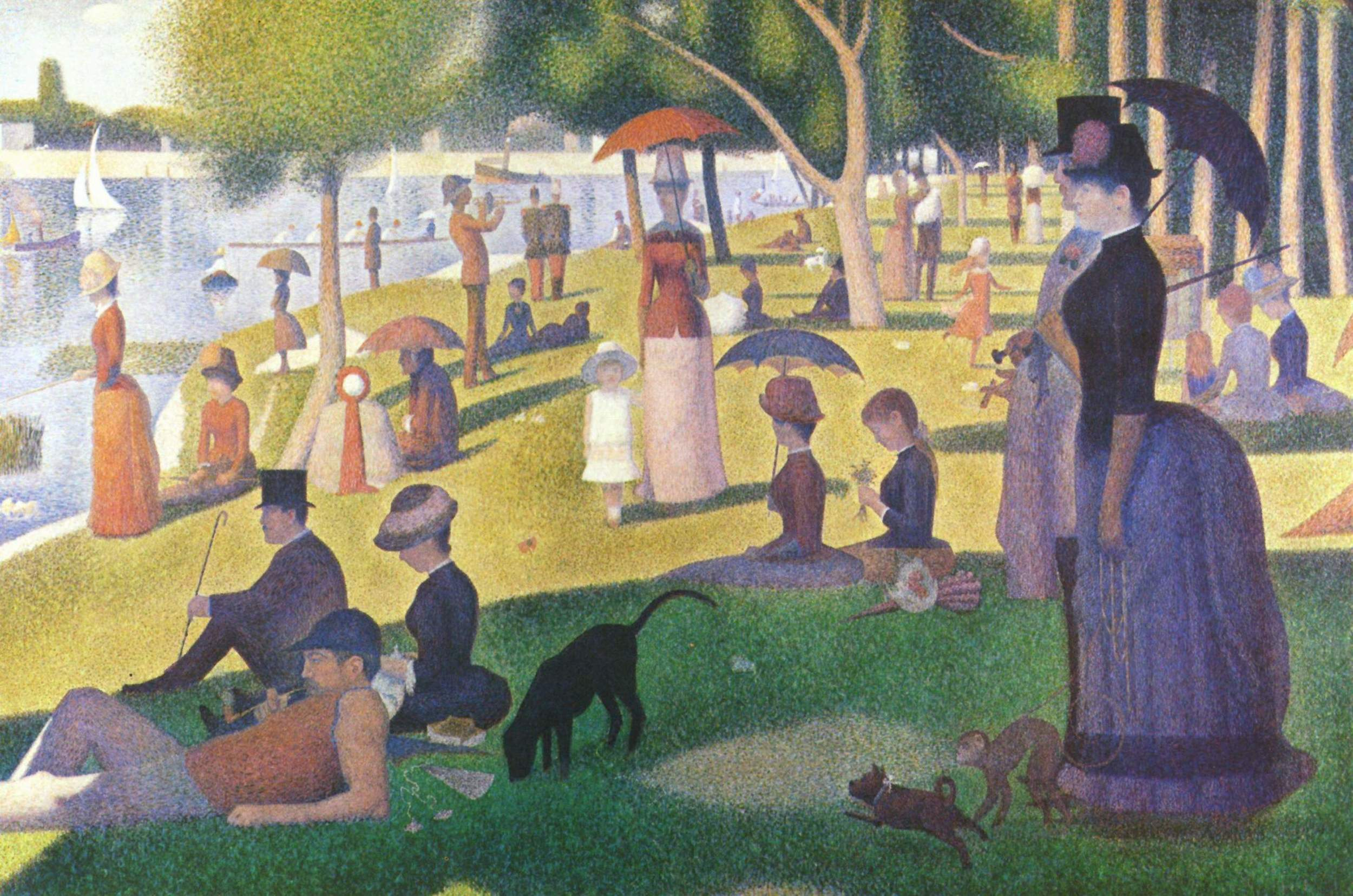 Georges Seurat,  Sunday Afternoon on the Island of la Grande Jatte , 1886, Art Institute of Chicago.