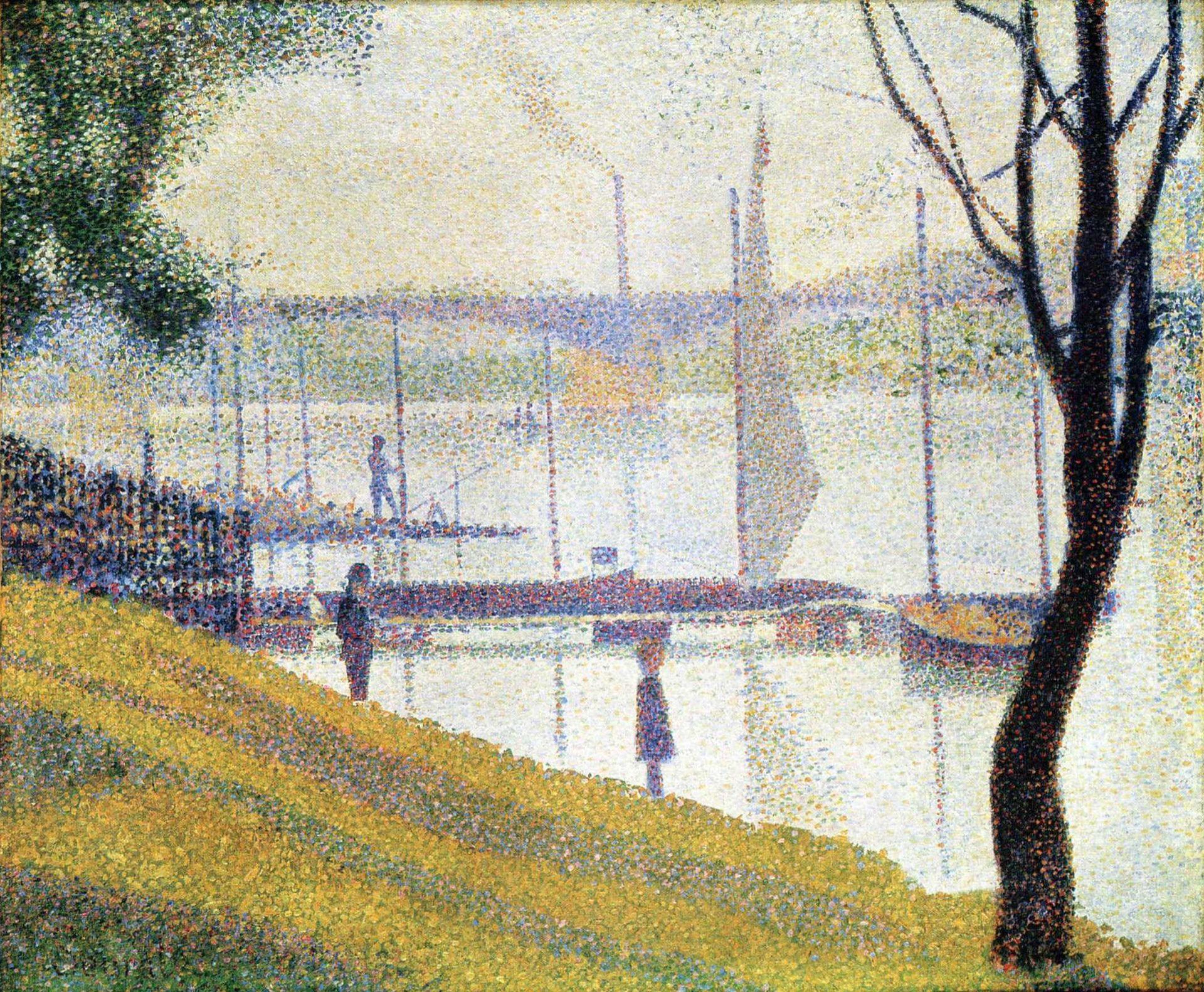 Georges Seurat,  Bridge of Courbevoie , 1886-1887, Courtauld Institute, London.