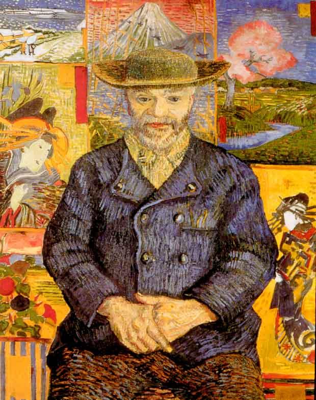 Vincent van Gogh,  Portrait of Père Tanguy , 1887, Musée Rodin.