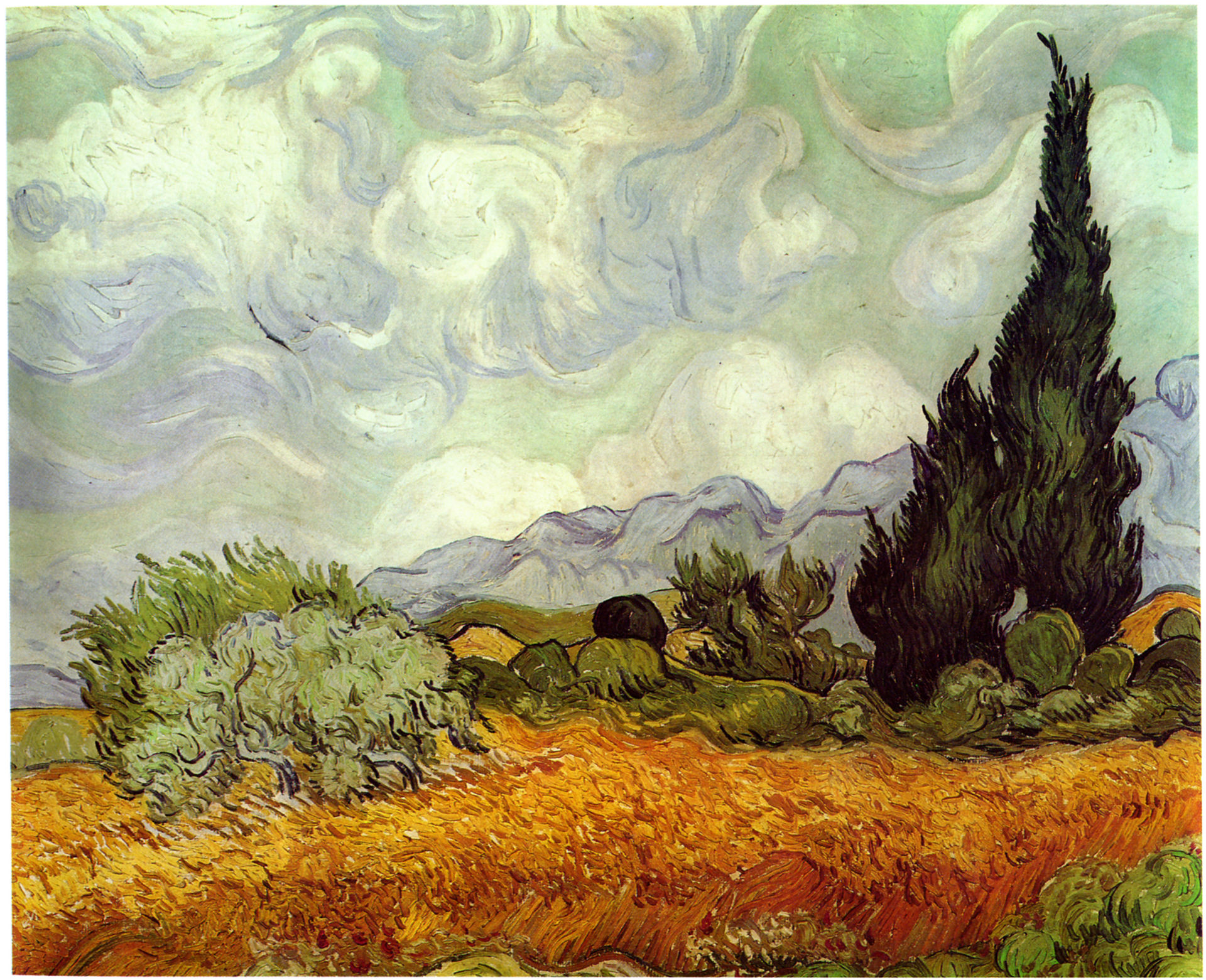 Vincent van Gogh, Wheat Field with Cypresses, 1889, National Gallery, London.