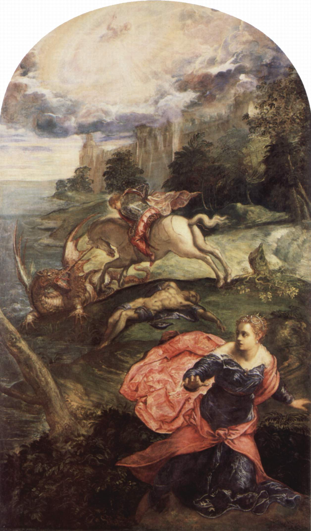 Tintoretto,  Saint George and the Dragon , 1555 - 1558, National Gallery, London.