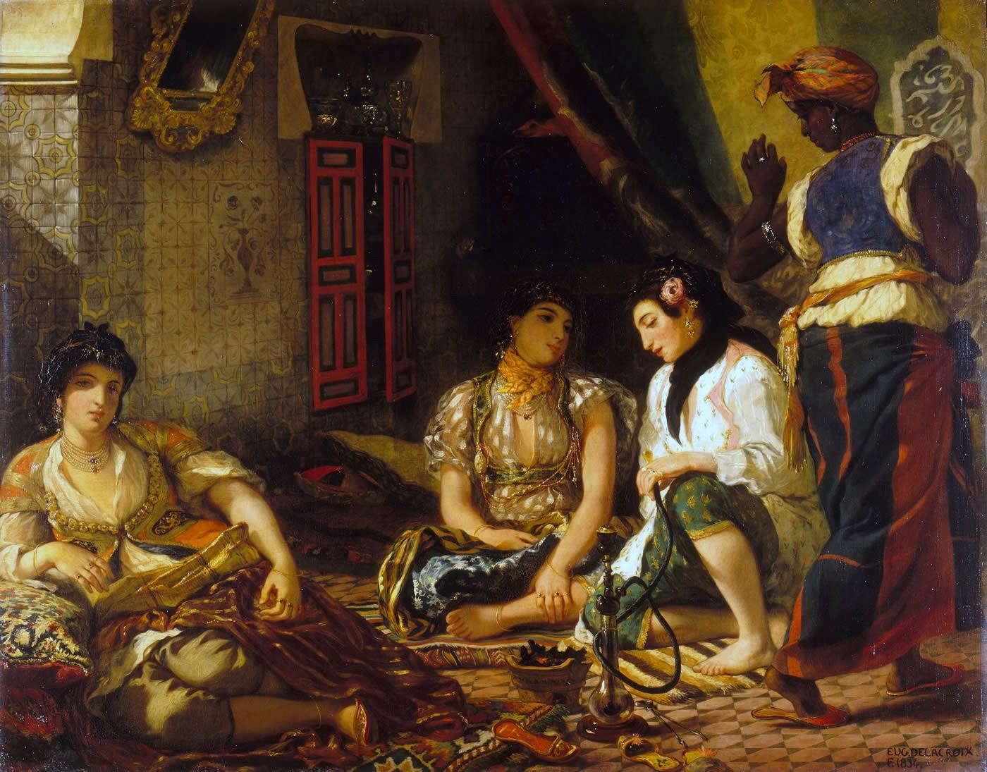 Eugène Delacroix.  Women of Algiers in their Apartment , 1834, Louvre, Paris.