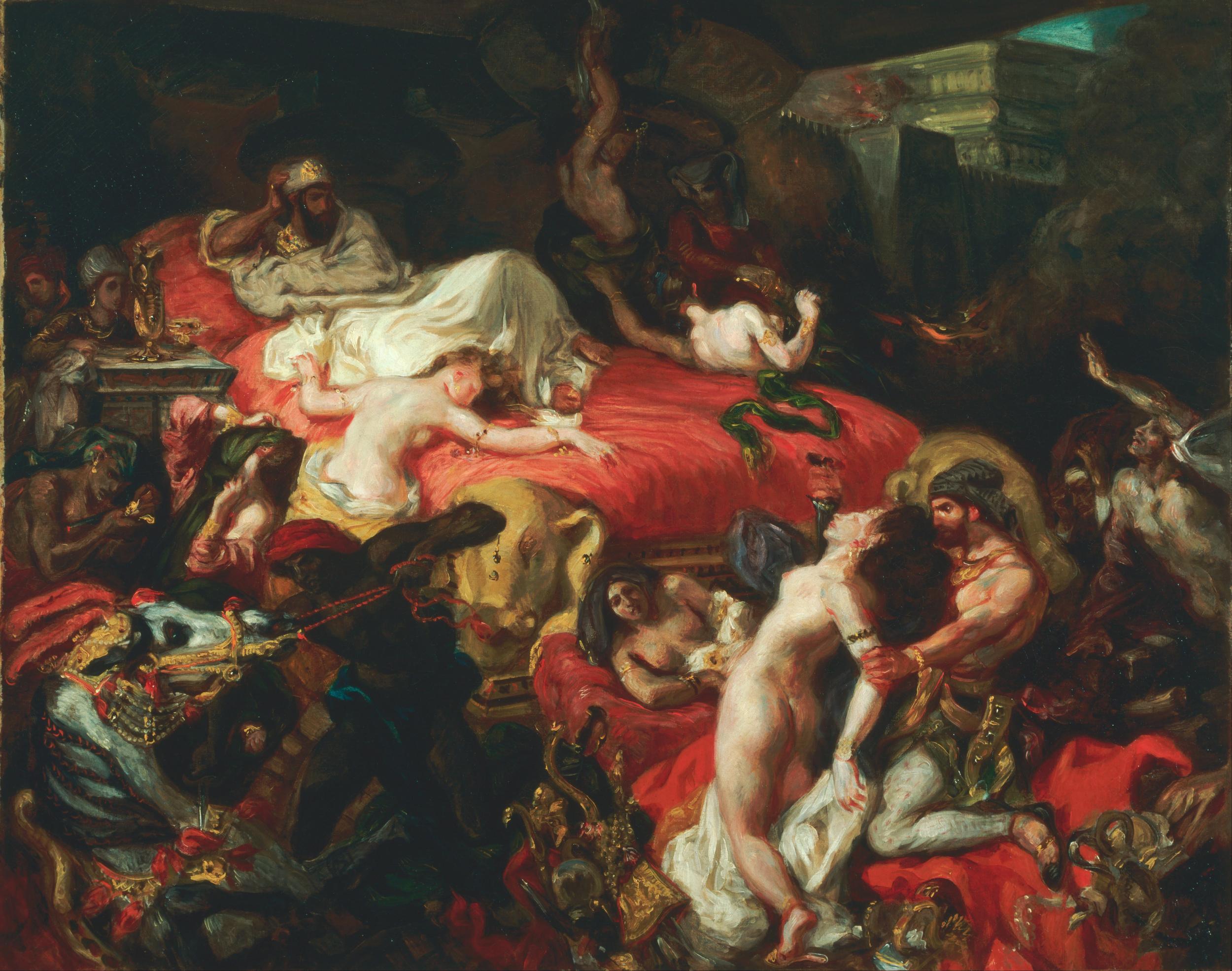 Eugène Delacroix,  Death of Sardanapalus , 1827, Philadelphia Museum of Art.