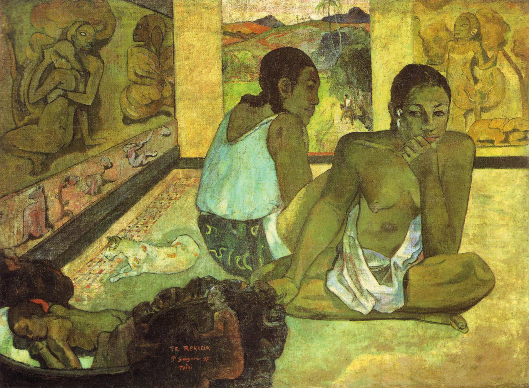 Paul Gauguin,  Day Dreaming , 1897, Courtauld Institute, London.
