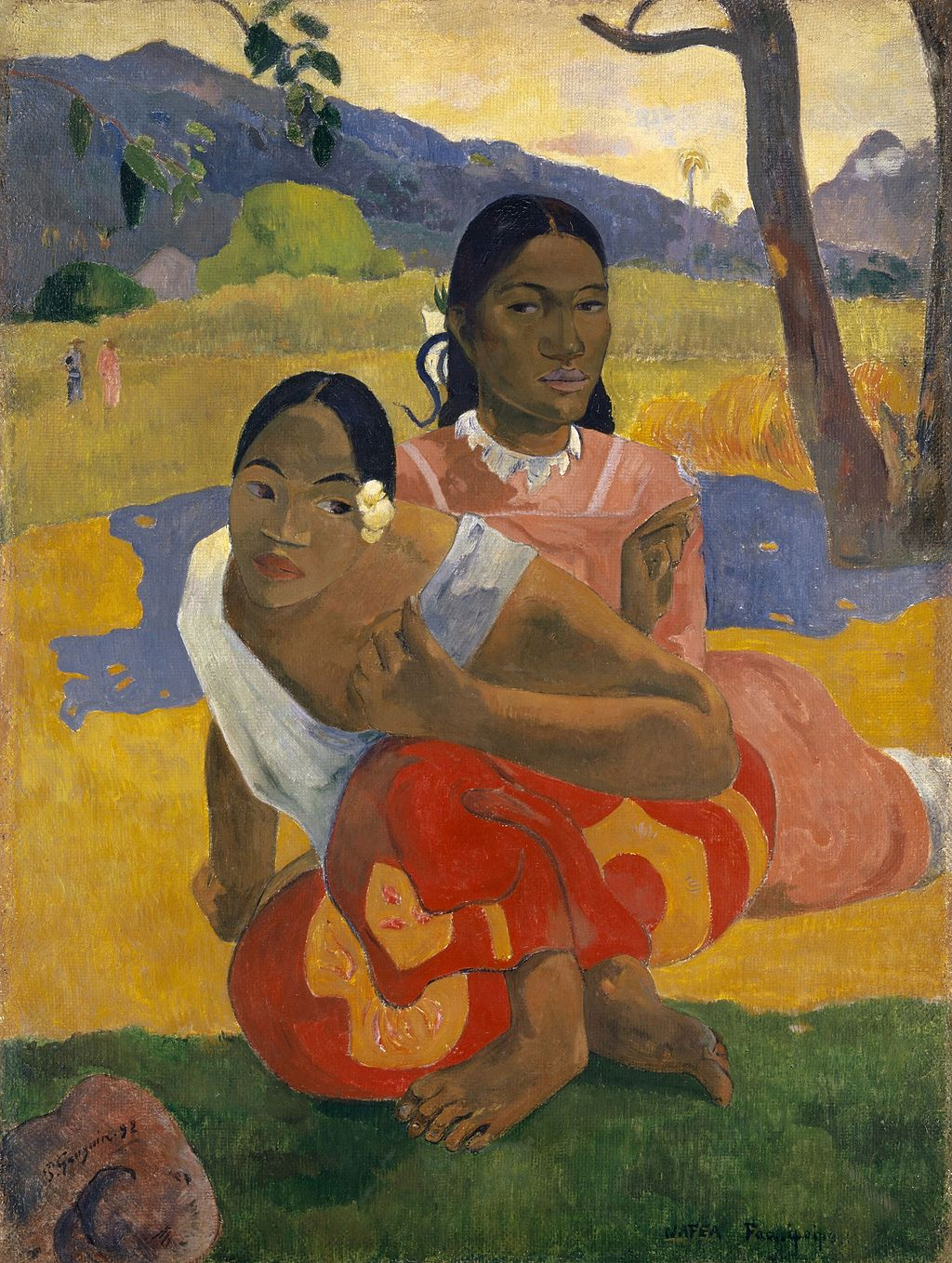 Paul Gauguin,  Nafea Faa Ipoipo (When Will You Marry?) , 1892, Private Collection.