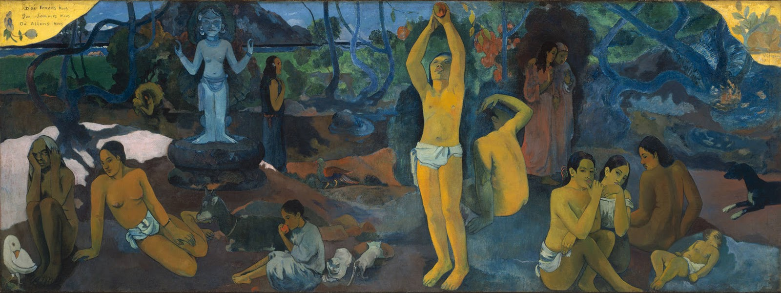 Paul Gauguin,  Where Do We Come From? What Are We? Where Are We Going? , 1897, Boston Museum of Fine Arts.