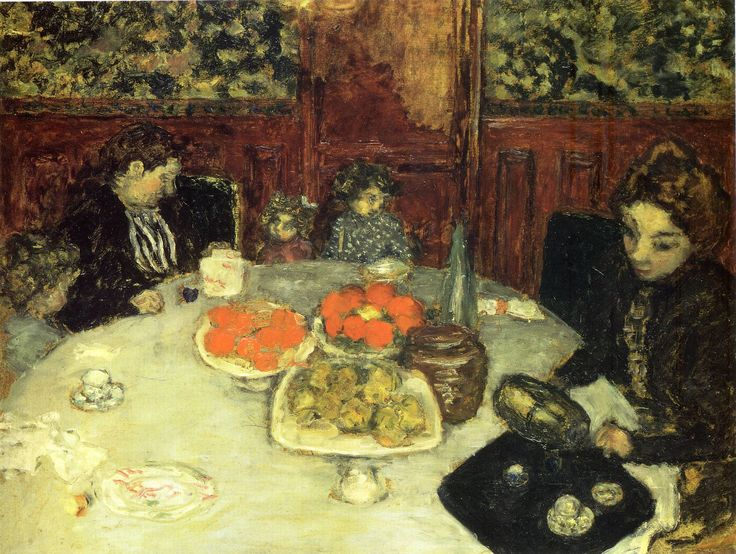 Pierre Bonnard,  At the Table , 1899.
