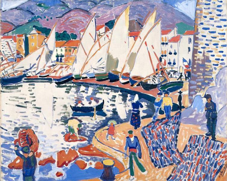 André Derain,  Le séchage des voiles (The Drying Sails) , 1905, Pushkin Museum, Moscow.