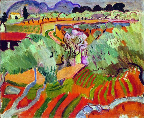 Raoul Dufy,  Paysage de Provence , 1905, Musée d'Art Moderne de la Ville de Paris.