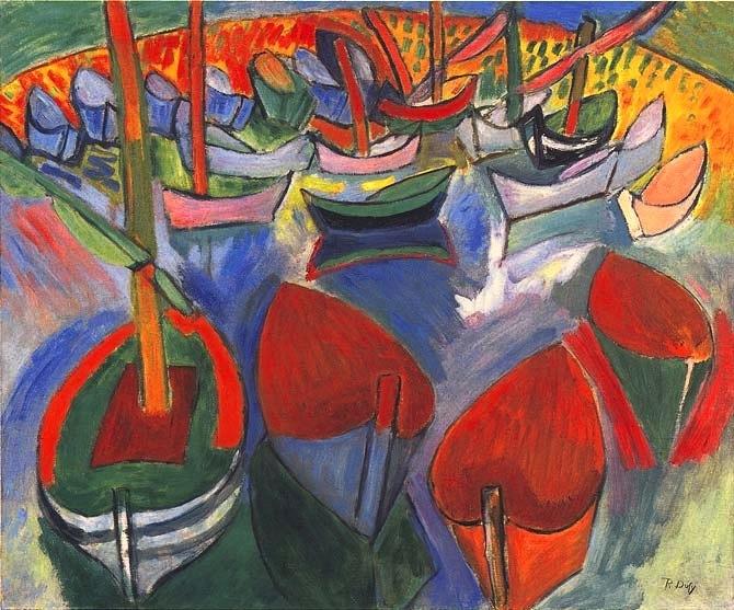 Raoul Dufy,  Les Barques à Martigues , 1908, Musée National d'Art Moderne, Paris.