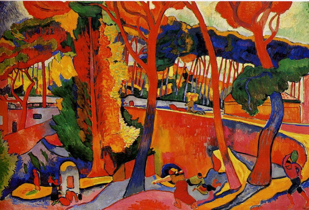 André Derain,  The Turning Road, L'Estaque , 1906, Museum of Fine Arts, Houston.
