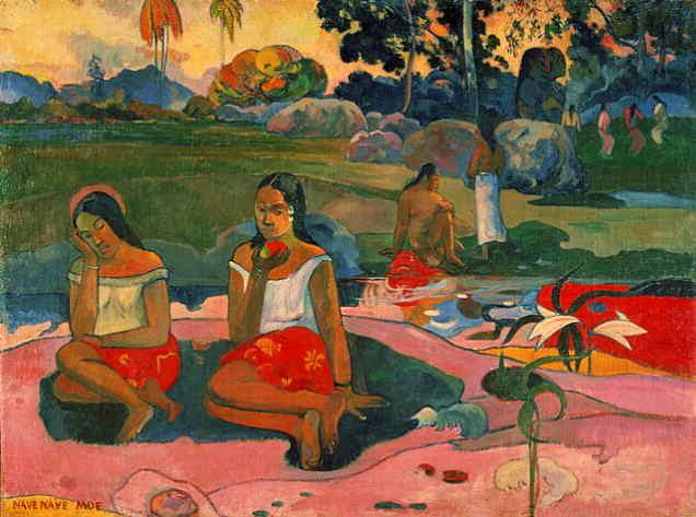 Paul Gauguin,  Nave, Nave Moe (Miraculous Source), 1894, Hermitage Museum, St. Petersburg.