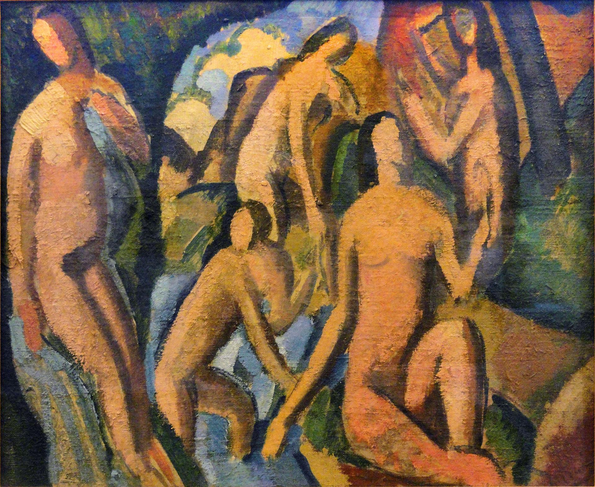 André Derain,  Baigneuses (Esquisse) , c.1908, Musée d'Art Moderne de la Ville de Paris.