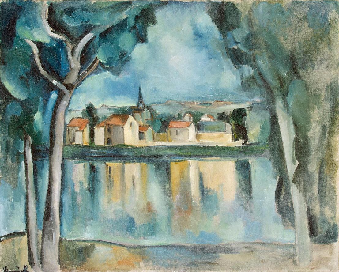 Maurice de Vlaminck,  Town on the Bank of a Lake , c.1909, Hermitage Museum, Saint Petersburg.