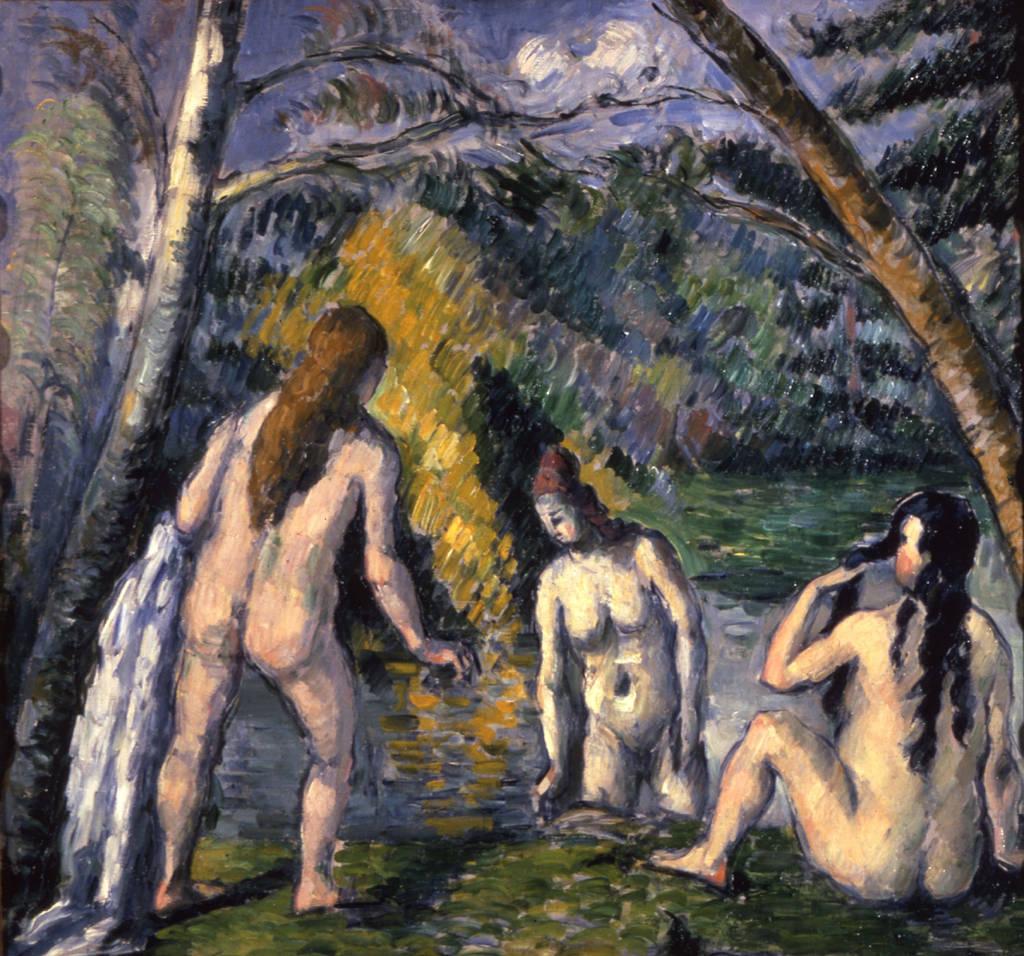 Paul Cézanne,  Three Bathers , 1879-82, Petit Palais, Musée des Beaux-Arts de la Ville de Paris. Originally owned by Henri Matisse.