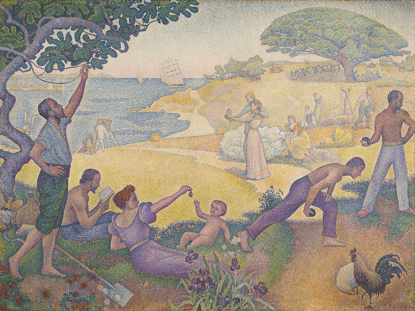 Paul Signac,  In the Time of Harmony. The Golden Age is not in the Past, it is in the Future , 1893-95, Mairie de Montreuil, France.