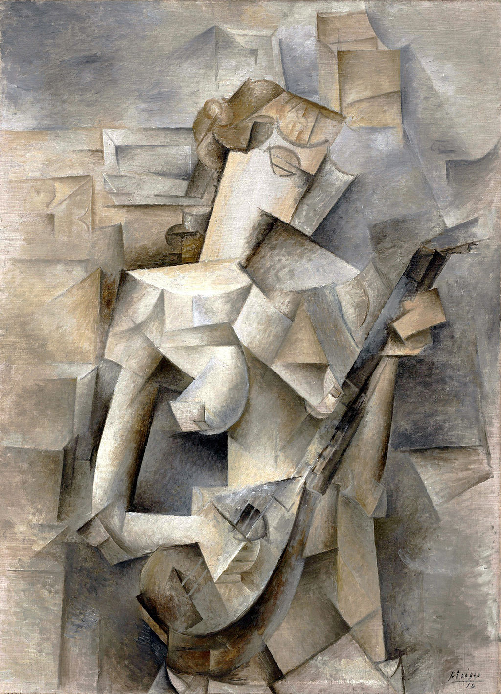 Pablo Picasso,  Girl with a Mandolin (Fanny Tellier) , 1910, Museum of Modern Art, New York.