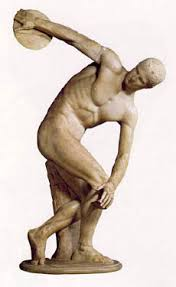 The Discobolus of Myron, 460–450 BC, Original Lost, Roman Copy.