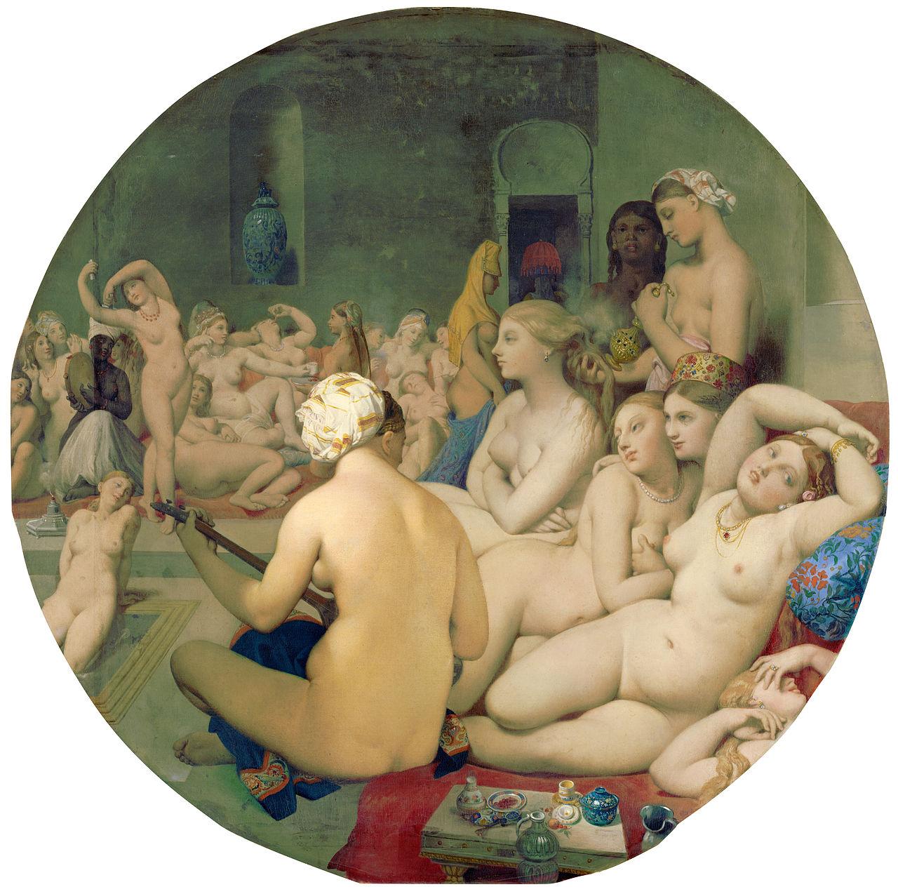 Jean Auguste Dominique Ingres,  The Turkish Bath , 1862, Louvre Museum, Paris.