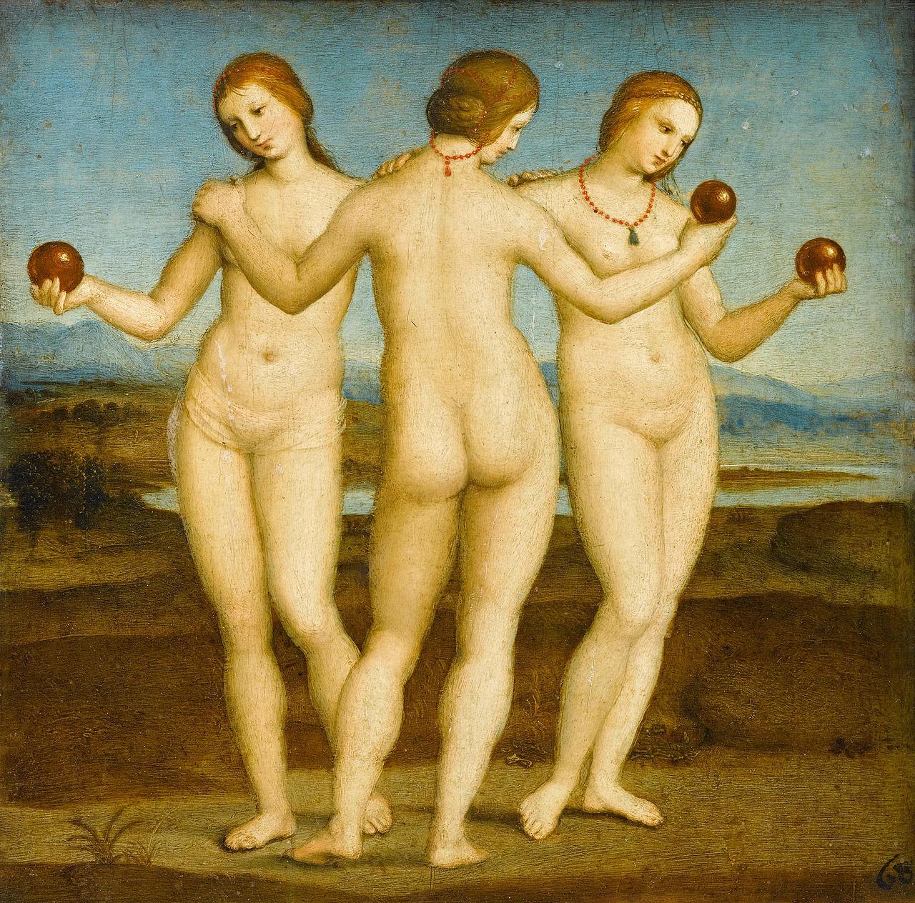Raphael,  The Three Graces , 1504–1505, Musée Condé, Chantilly.
