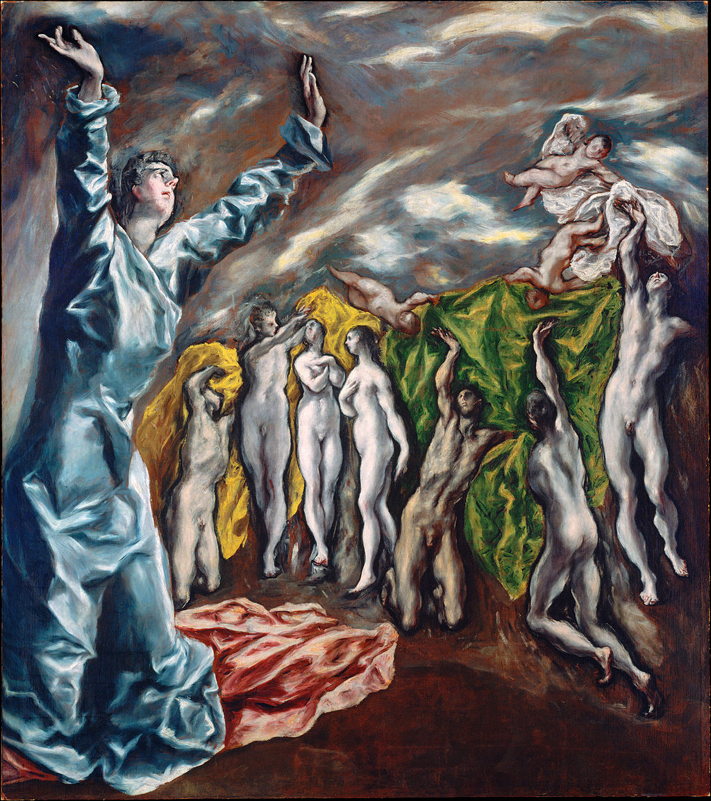 El Greco,  The Opening of the Fifth Seal , 1608–1614, Metropolitan Museum, New York.