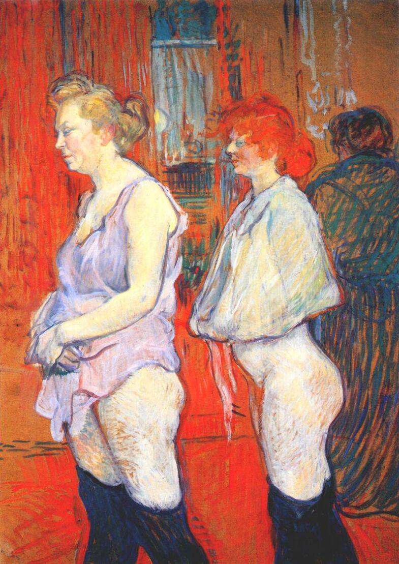 Henri de Toulouse-Lautrec , The Medical Inspection at the Rue   des Moulins Brothel , 1894, National Gallery of Art, Washington DC.