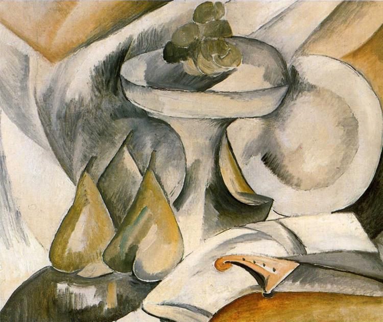 Georges Braque,  Plate and Fruit Dish , 1908, Private collection.