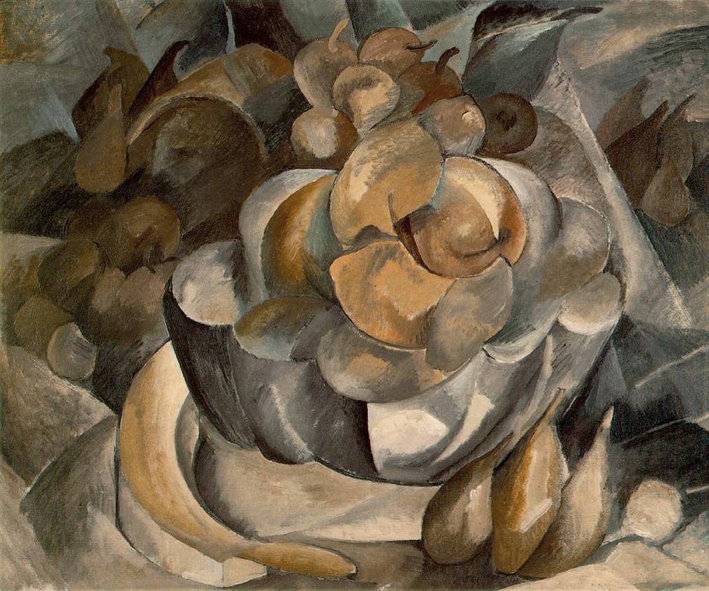 Georges Braque,  Fruit Dish , 1908–09, Moderna Museet, Stockholm.