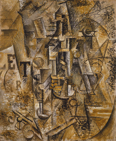 Pablo Picasso,  Still Life with a Bottle of Rum , 1911, Metropolitan Museum of Art, New York.