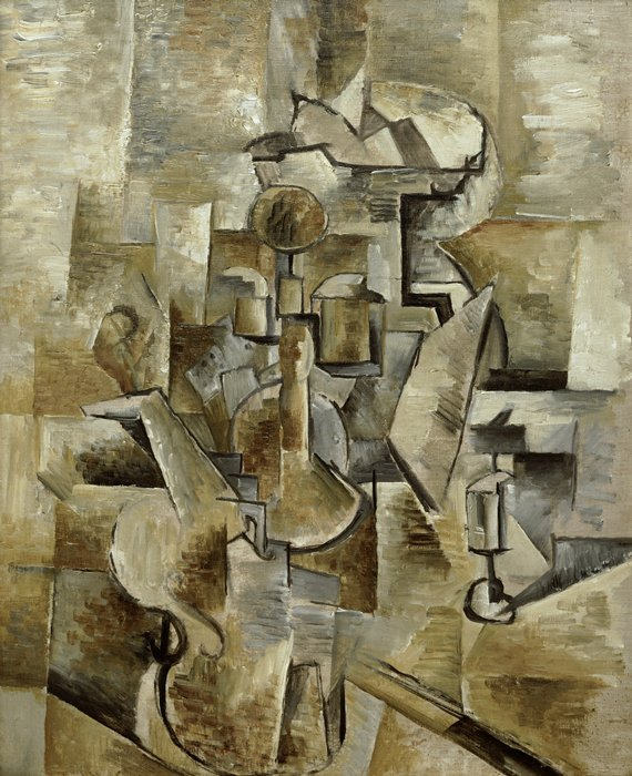 Georges Braque,  Violin and Candlestick , 1910, San Francisco Museum of Modern Art.