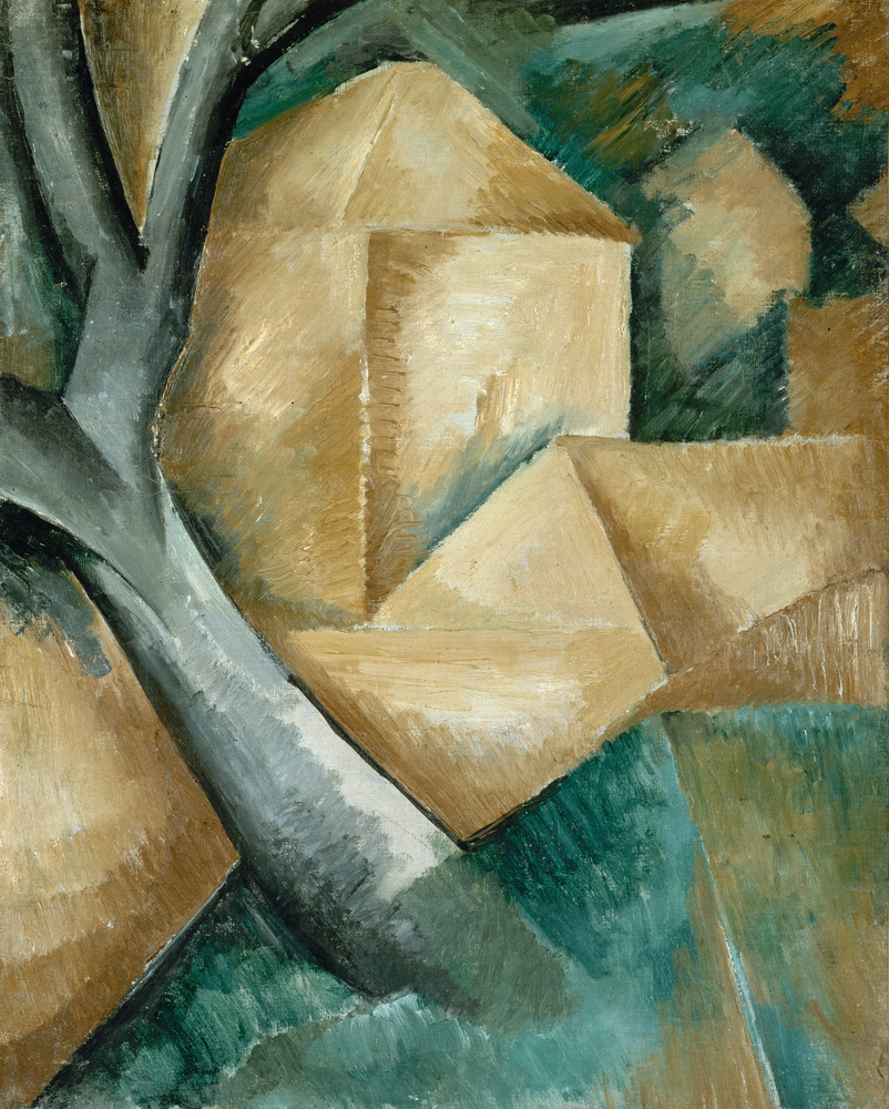 Georges Braque,  Houses at l'Estaque , 1908, Lille Métropole Museum of Modern, Contemporary and Outsider Art.