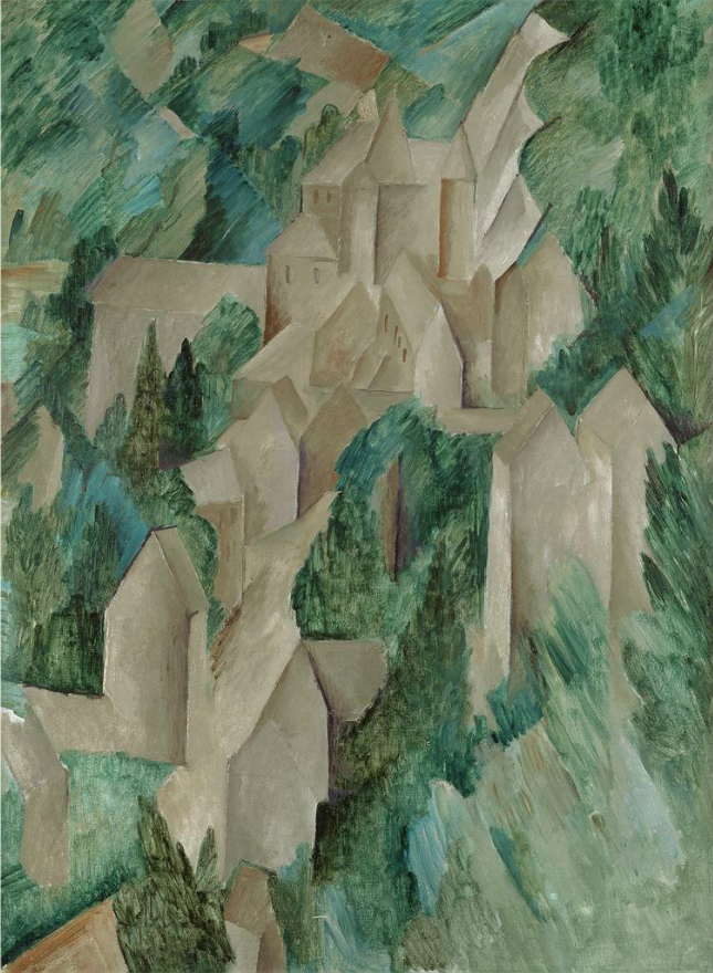 Georges Braque,  The Castle at Roche-Guyon , 1909, Moderna Museet, Stockholm.