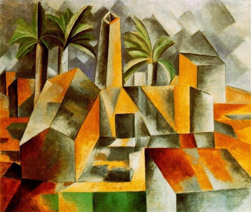 Pablo Picasso,  The Factory, Horta de Ebro , 1909, Hermitage, St. Petersburg.