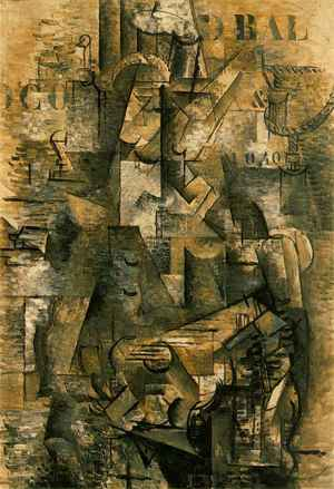 Georges Braque,  The Portuguese , 1911, Kunstmuseum Basel, Basel, Switzerland.