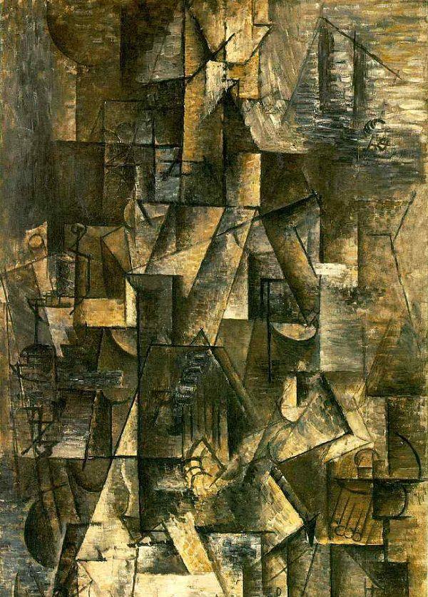 Pablo Picasso,  Ma Jolie , 1911-12, Museum of Modern Art, New York.
