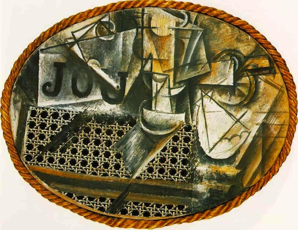 Pablo Picasso,  Still Life with Chair Caning , 1912, Musée Picasso, Barcelona.