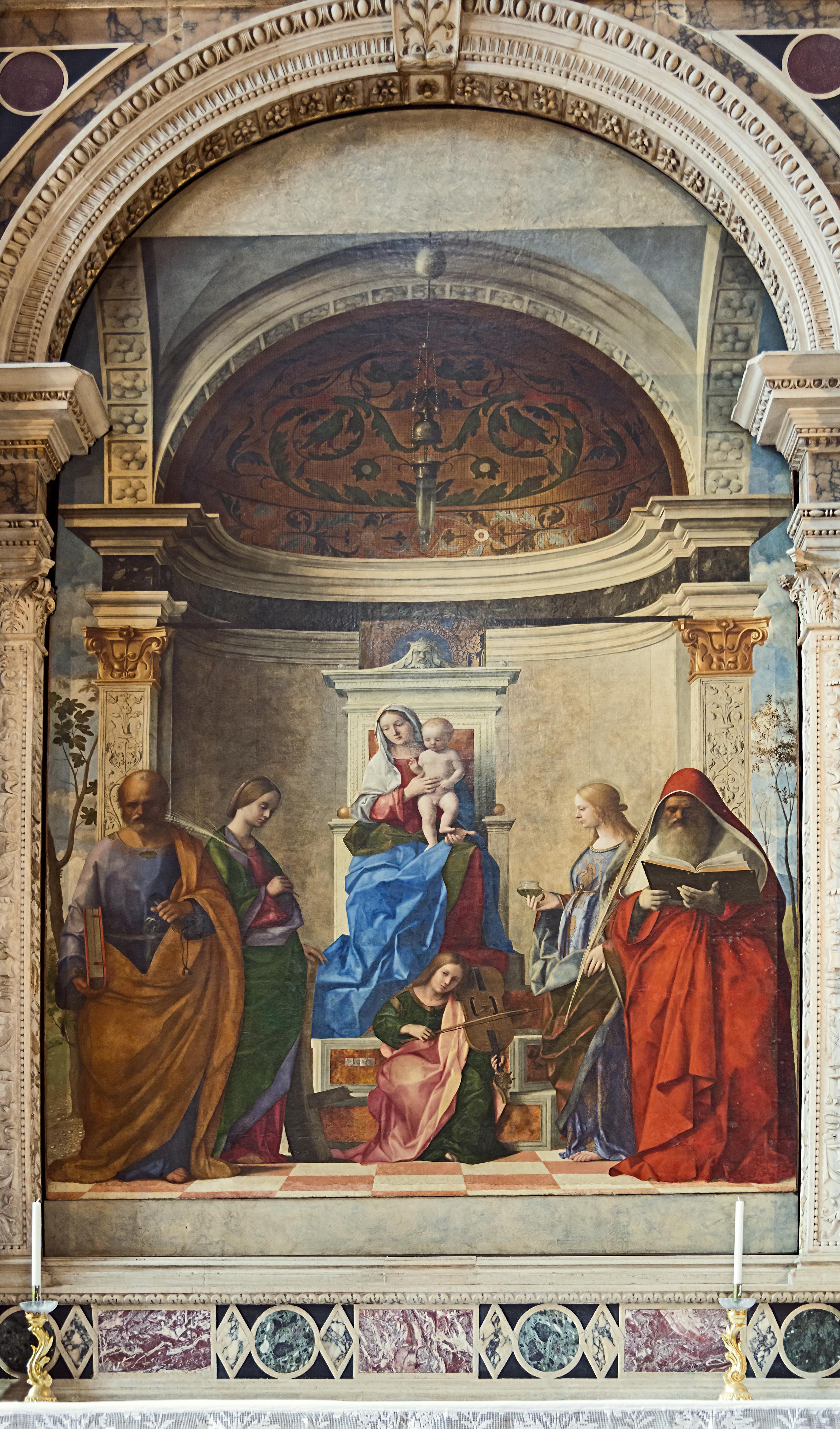 Giovanni Bellini,  San Zaccaria Altarpiece , 1505, San Zaccaria, Venice.