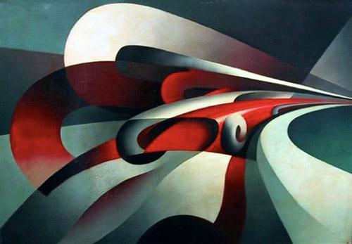 Tullio Crali,  Forces of a Curve , 1930, The Museo di Arte Contemporanea di Trento e Rovereto.