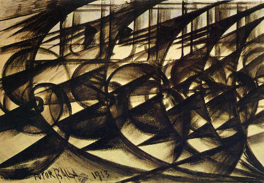 Giacomo Balla,  Speeding Car (Study). Abstract Speed , 1913, Philadelphia Museum of Art.