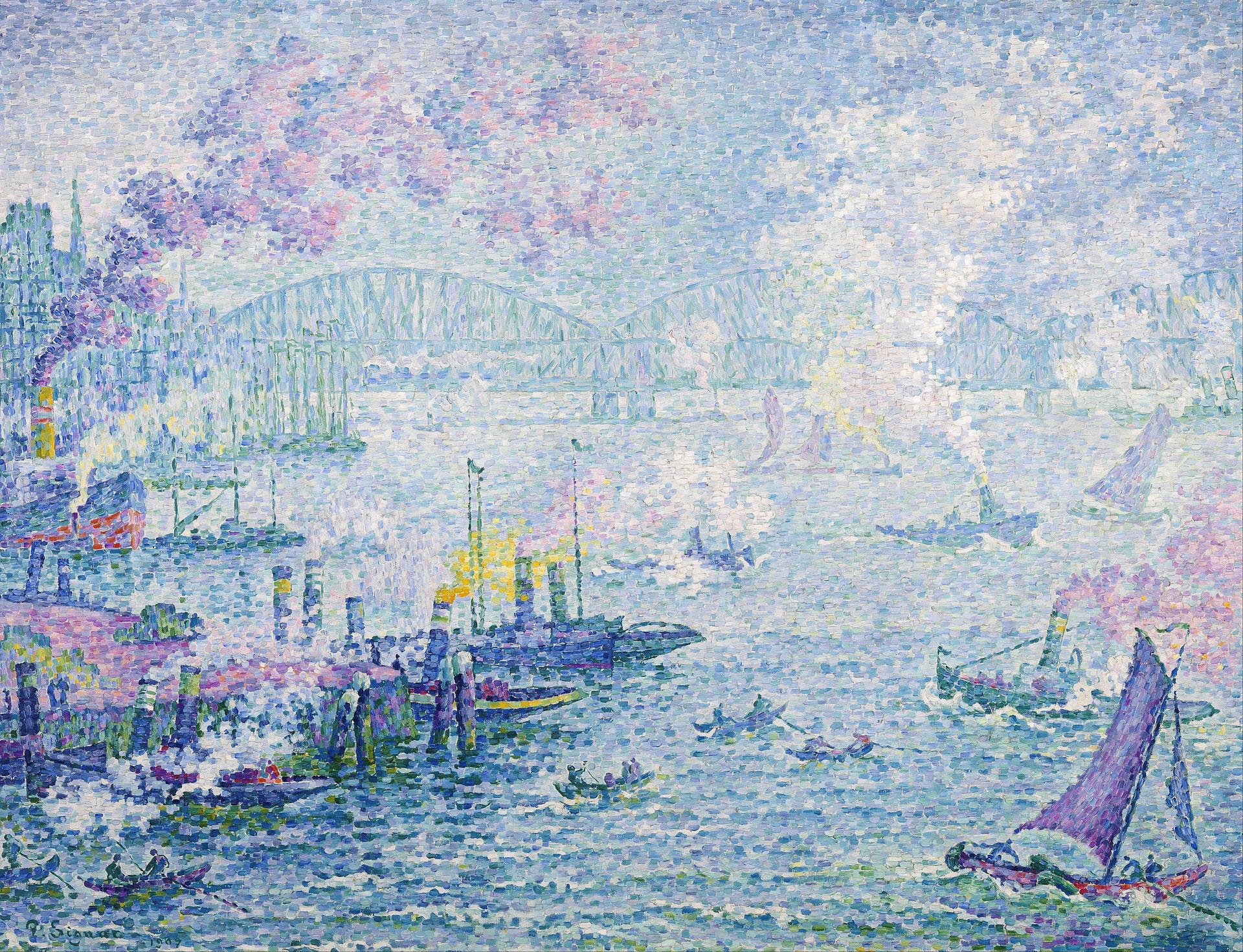 Paul Signac,  The Port of Rotterdam , 1907, Museum Boijmans Van Beuningen.