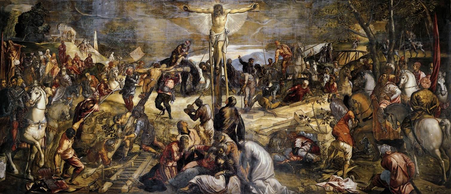 Tintoretto (Jocopo Comin),  Crucifixion , 1565, Scuola Grande di San Rocco, Venice.