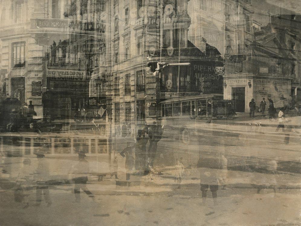 Mario Bellusi,  Modern Traffic in Ancient Rome , 1930, Guggenhein Museum, New York.