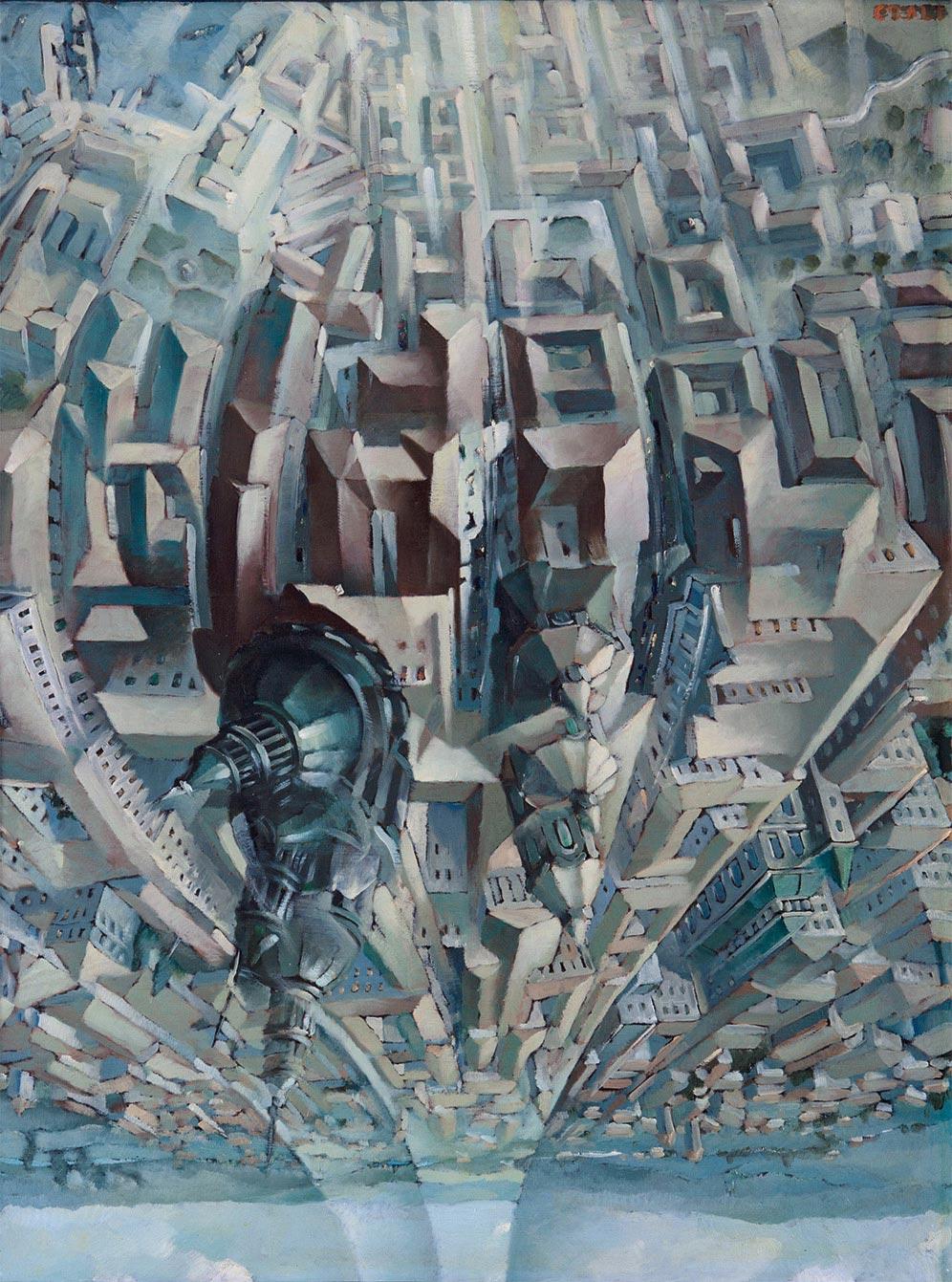 Tullio Crali,  Upside Down Loop (Death Loop) , 1938. Collection of Luce Marinetti, Rome.